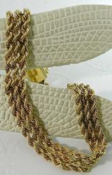 3 Strand Rope 14kt Gold Bracelet