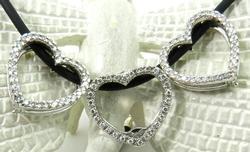 Unique Diamond Heart Necklace