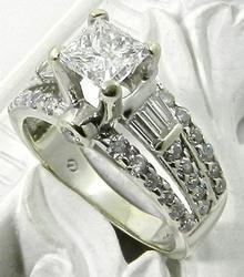 1++ CTTW Princess Cut Engagement Ring