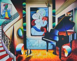 Ferjo 'Piano And Beauty' 40x50 Original Acrylic