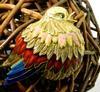 Nicely Sculpted 18K Gold Bird Broach