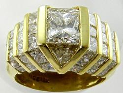 18kt Gold Mega Bling 3.50 Carat Diamond Ring