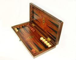 Authentic Oiginal Wood & Pearl Mosaic Art Backgammon