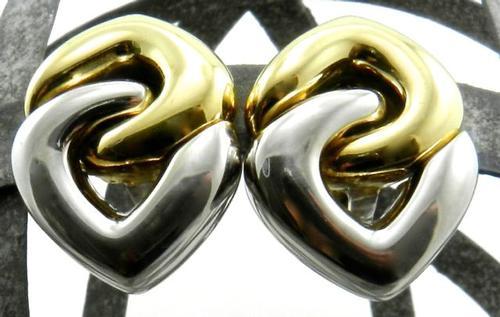 18k White & Yellow Designer Earrings