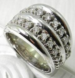 Dazzling Double Diamond Row Ring