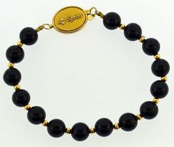 Gold plated black Onyx bracelet