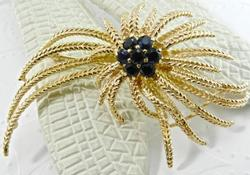 Vintage Gold and Sapphire Broach