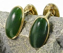 Sophisticated 14k Jade Cufflinks