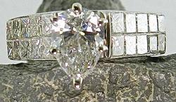 Certified  Pear Shape Diamond Ring