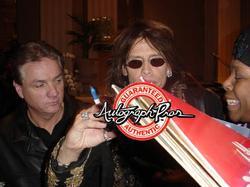 Aerosmith Steven Tyler Signed 24x36 Harley Canvas Poste