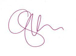 Gwen Stefani Autographed No Doubt Signed 6x4 Small Cut