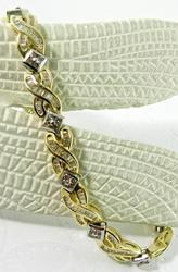 3 Carat Diamond Bracelet in 14kt Gold
