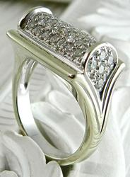 1+ Carat Diamond Cluster Ring in 14k Gold