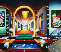 Ferjo Stunning Original Large Acrylic Painting