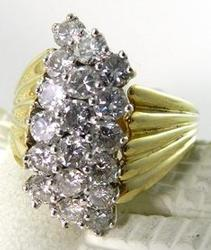 Fashionable Diamond Cocktail Ladies Ring