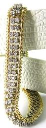 Ladies 14kt Gold & 3 Carat Diamond Bracelet