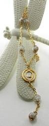 Chic 18Kt Gold & Mother Of Pearl Necklace