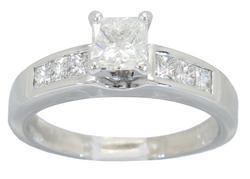 1.00 Carat White Gold Ring