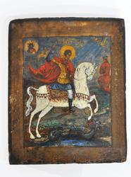 Russian Icon Of Saint George XIX Century.