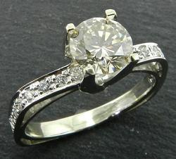Unique 1.2 Carat Diamond Engagement Ring