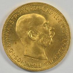 Gorgeous Superb Gem BU 1915 Austria 20 Corona Gold