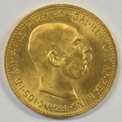 Fabulous Superb Gem BU 1915 Austria 20 Corona Gold