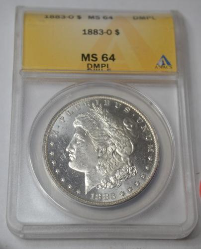 Frosty White 1883 O MS64 DMPL Morgan in a Holder