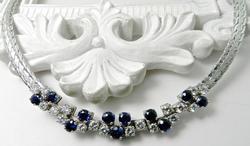Elegant Diamond and Sapphire Necklace
