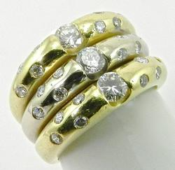 High Quality 18K Gold and Diamond Ring