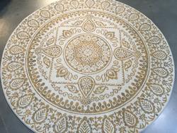 Stunning Ancient Medallion Design 8' Round Rug