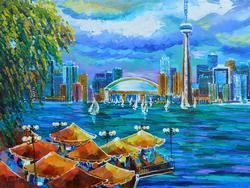 Great Size Yana Rafael Original Acrylic Painting