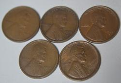 Sharp lot of  Lincolns 09 VDB,13 S, 15 D&S and1916