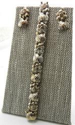 Set of Earrings & Bracelet in 18Kt White Gold