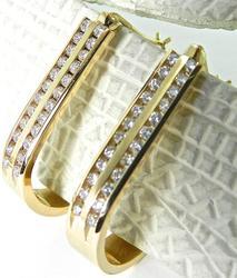 Superb 1ctw Hoop Diamond Earrings