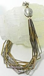 Designer One of a Kind Two-Tone Gold Necklace