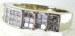 Grand Invisibly Set Princess Cut Diamond Ring