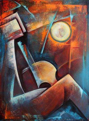 Mixed Media on Canvas by Juan Cotrino