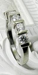 Popular 5 diamond white gold band