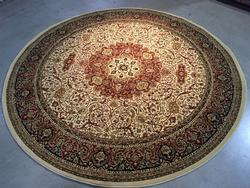 Beautiful Medallion Classic Isfahan Design 8ft Round