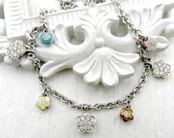Designer Norman Covan Diamond Charm Necklace, 18K