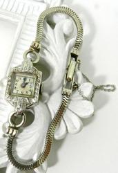 Vintage Ladies 14K White Gold Watch