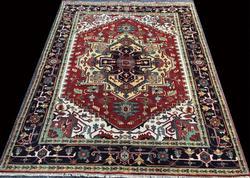 Remarkably Lustrous High Quality Authentic Heriz-Serapi Design Carpet