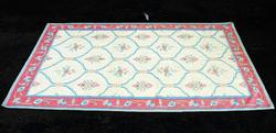 FRENCH AMAZING PASTEL COLORS HAND KNOTTED RUG