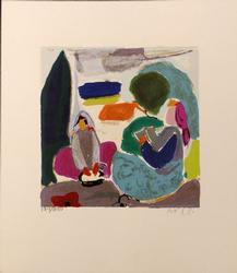 Amos Yaskil L.E. Color Serigraph