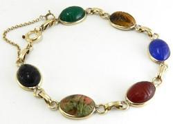 Classic Multi-stone Scarab Bracelet