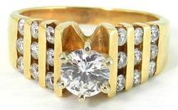 Gorgeous Ladies 14KT Gold Diamond Ring