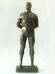 Metal Statue Of Great Russian Wrestler Ivan Poddubny