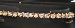 PHENOMENAL 5CTW DIAMOND and 14KT GOLD TENNIS BRACELET