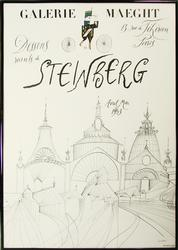 GREAT COLLECTIBLE POSTER STEINBERG EXHIBITION 1953