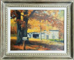 OLD BARN BEAUTIFUL OIL PAINTING ON CANVAS